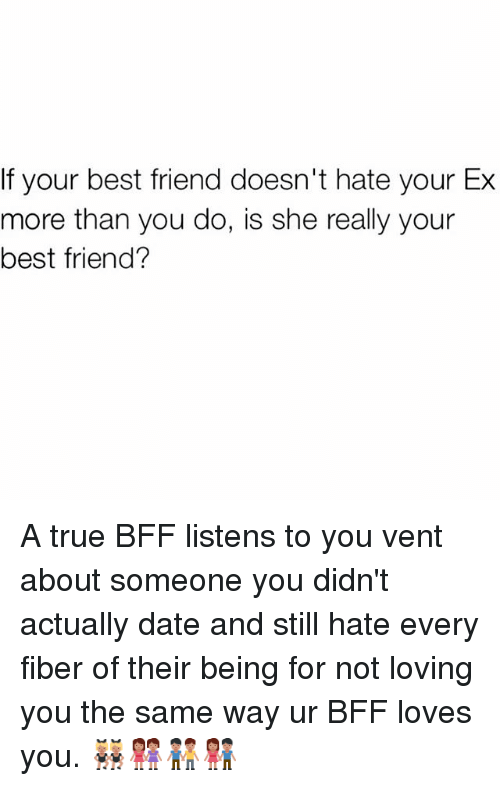 how to tell if your best friend is dating your ex