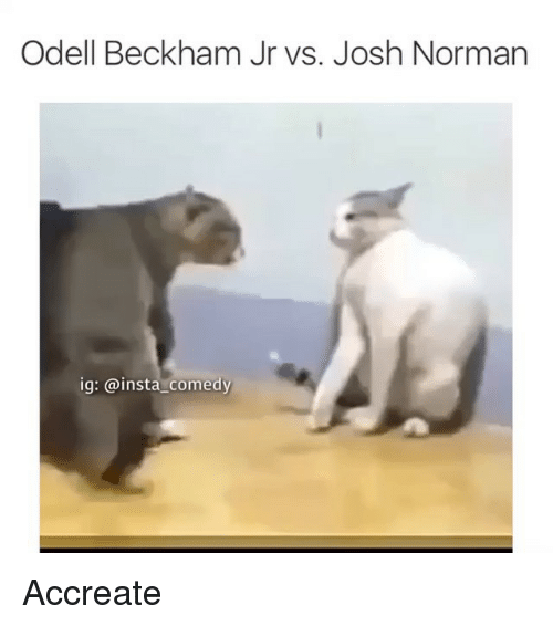 Funny, Josh Norman, and Memes: Odell Beckham Jr vs. Josh Norman  ig: @insta comedy Accreate
