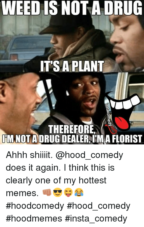 Funny Meme Hood : Weed is not a drug it s plant therefore im