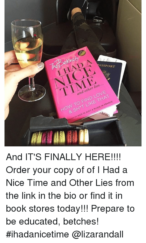 i had a nice time and other lies pdf