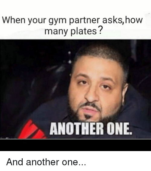 Another One, Another One, and Gym: When your gym partner asks, how  many plates  ANOTHER ONE. And another one...