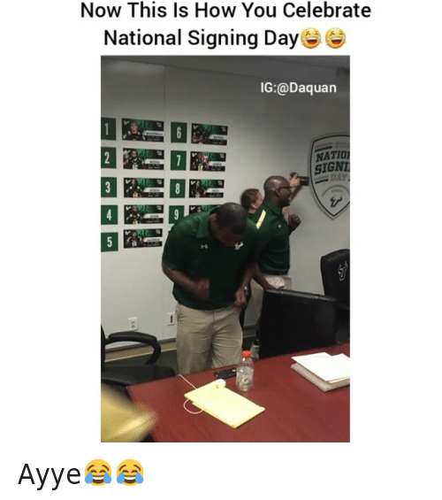 College football: Now This Is How You Celebrate National Signing Day Ayye😂😂