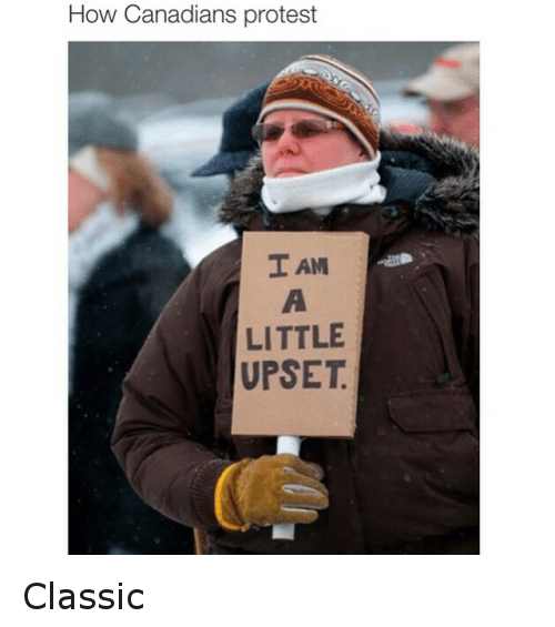 Canadian Protest: How Canadians protest  I AM  LITTLE  UPSET Classic