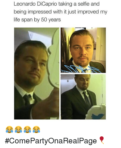 Leonardo DiCaprio Taking a Selfie and Being Impressed With ... Leonardo Dicaprio Instagram