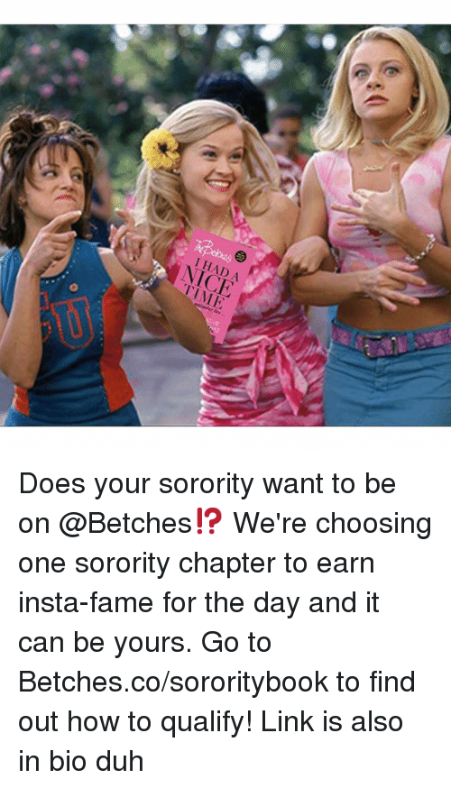 why do you want to be in a sorority As a person who hopes to join a sorority, tell me why you chose your sorority what i do want to ask is why join a frat/soror for reasons that the military would.