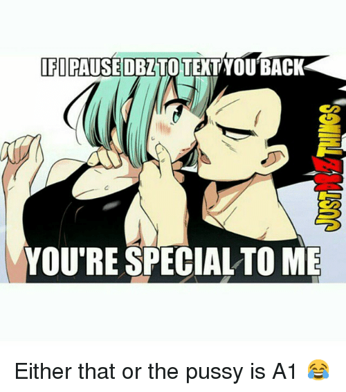 Your Special To Me: IFI PAUSE DBZTOTEXTYOU BACK  YOU'RE SPECIAL TO ME Either that or the pussy is A1 😂