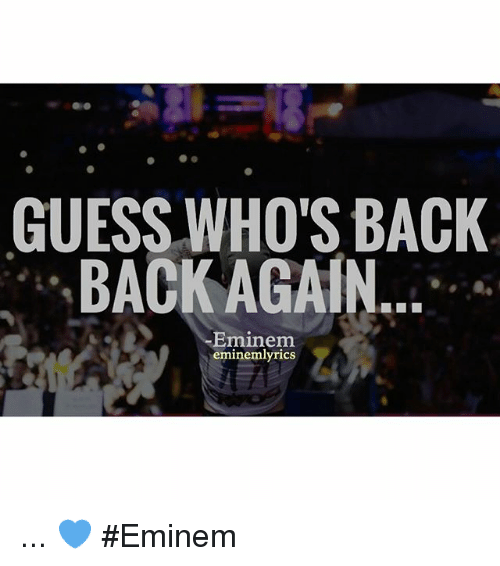 Guess Whos Back Eminem Download « simptite