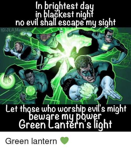 Instagram Green lantern 52f8a4 in brightest da in blackest nigh no evil shall escape my sight gi