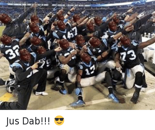 Carolina Panthers, The Dab, and Denver Broncos: @millerlite40 Jus Dab!!! 😎 Jus Dab!!! 😎
