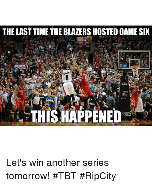 The LAST TIME THEBLAZERS HOSTED GAMESIX 106 107 THIS