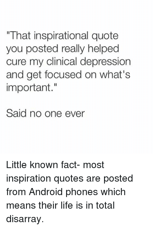 Inspirational Quotes For Depression Amusing Depression Instagram Inspirational Quote  Inspiring Quotes And