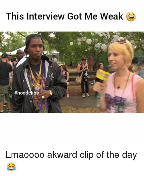 Funny, Hood, and Got: This Interview Got Me Weak  #hood clips Lmaoooo akward clip of the day😂
