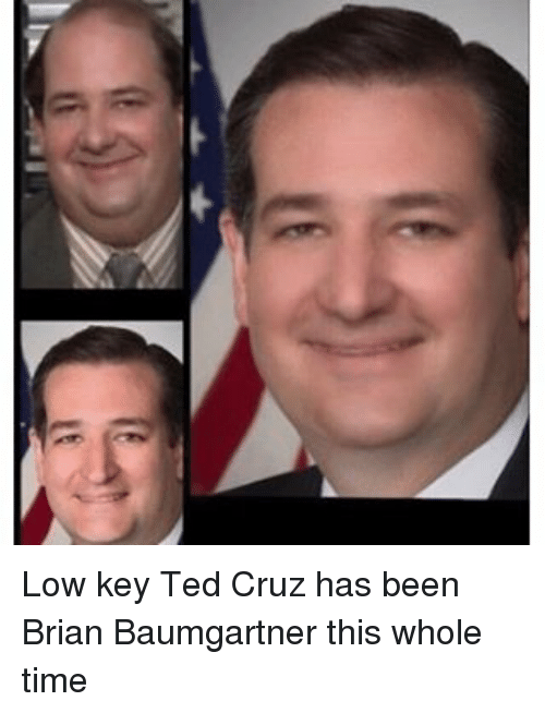 Brian Baumgartner, Funny, and Low Key: Low key Ted Cruz has been Brian Baumgartner this whole time