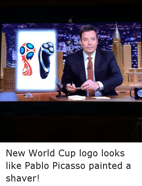 Logos: New World Cup logo looks like Pablo Picasso painted a shaver!