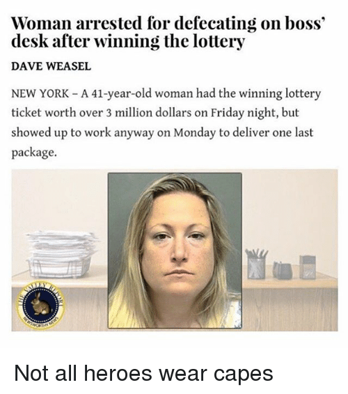 Viral Lottery Winner Defecating On Boss S Desk News: Funny Funny And Lottery Memes Of 2016 On SIZZLE