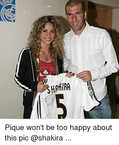 Shakira, Soccer, and Sports: 5HPKIRA Pique won't be too happy about this pic @shakira ...