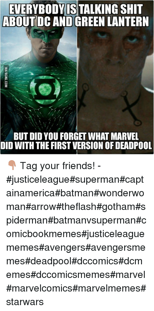 Green Lantern: EVERYBODY IS TALKING SHIT  ABOUT DC AND GREEN LANTERN  BUT DID YOU FORGET WHAT MARVEL  DID WITH THE FIRST VERSION OF DEADPOOL 👇-Tag your friends!--justiceleaguesupermancaptainamericabatmanwonderwomanarrowtheflashgothamspidermanbatmanvsupermancomicbookmemesjusticeleaguememesavengersavengersmemesdeadpooldccomicsdcmemesdccomicsmemesmarvelmarvelcomicsmarvelmemesstarwars