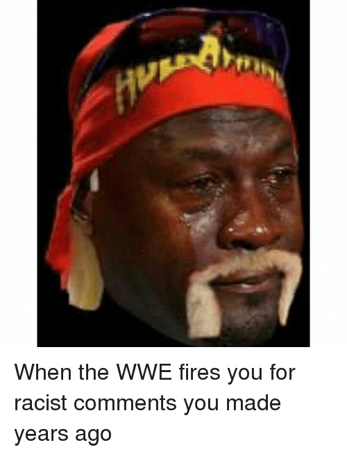 Fire, Funny, and Racist: rth When the WWE fires you for racist comments you made years ago