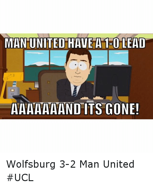 Soccer, Sports, and United: MAN UNITED HAVE A 130 LEAD  AAAAAA AND TS CONEu Wolfsburg 3-2 Man United UCL