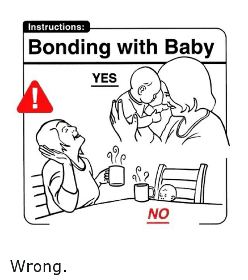 Funny Baby Meme Yes : Instructions bonding with baby yes no wrong it s