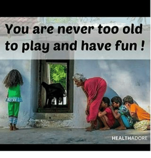 you are never too old to When i was younger, i could never understand why people commit suicide it was  always so far beyond my imagination that someone could be so broken, they.