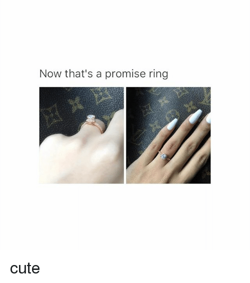 A Promise Ring: Now that's a promise ring cute
