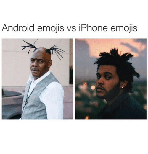 Android: Android emojis vs iPhone emojis