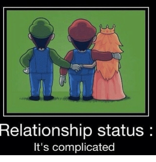 Relationships: Relationship status  It's complicated