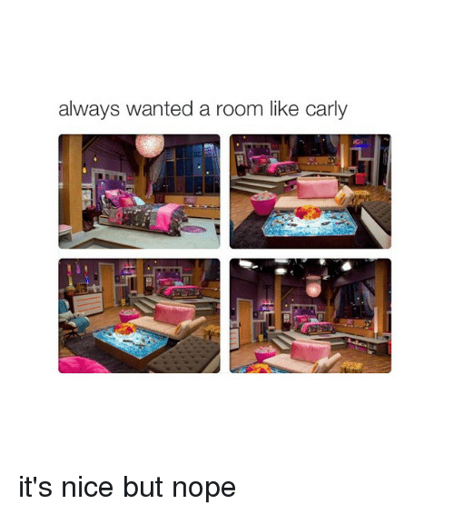 cars: always wanted a room like carly it's nice but nope