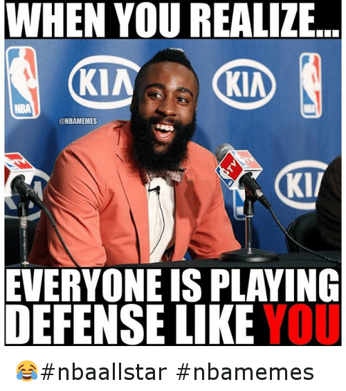 Basketball, Houston Rockets, and James Harden: When you realize ... everyone is playing defense like you 😂nbaallstar nbamemes