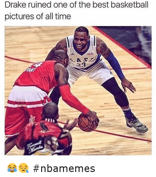 Basketball, Drake, and Kobe Bryant: Drake ruined One Of the best basketball pictures of all time 😂😪 nbamemes