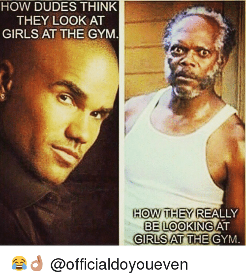 how to look good at the gym guys