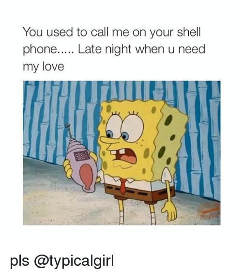 Phone: You used to call me on your shell  phone  Late night when u need  my love pls @typicalgirl