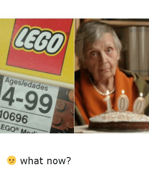 Lego Age: LEGO  Ages/edades  10696  EGO MA 😕 what now?