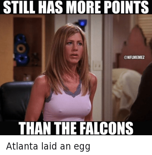 """Animals, Anime, and Friends: """"Friends"""" would have been good for plenty of memes, had it aired a decade later, but moments from the iconic TV series are still good for a few memes these days, as this one with Jennifer Aniston from the 2015 NFL season shows.   You may not know that, in addition to """"Friends"""" and her many film roles, she also voiced Annie Hughes, the mother in the underrated 1999 animated film """"The Iron Giant."""" Atlanta laid an egg"""
