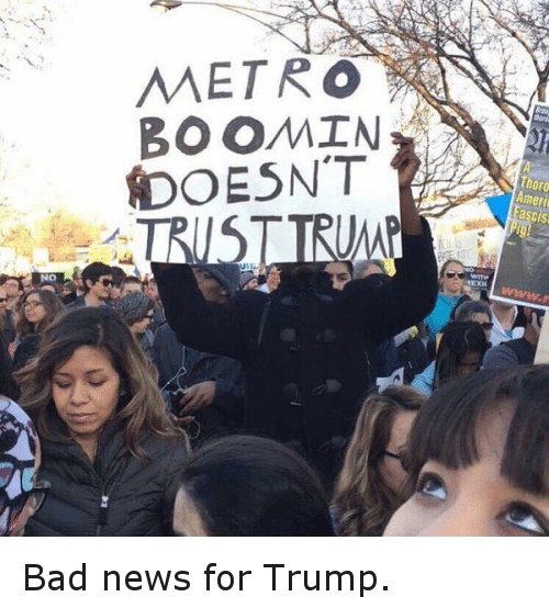 Republican Presidential primary: @norm Bad news for Trump.  MEETRO BOOMIN DOESN'T TRUST TRUMP Bad news for Trump.