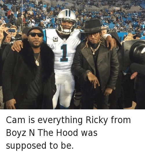 Cam Newton, Carolina Panthers, and Football: Cam is everything Ricky from Boyz N The Hood was supposed to be.