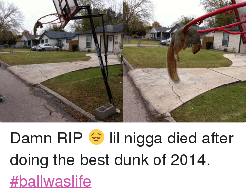ball is life: @isookmoon   Damn RIP 😔 lil nigga died after doing the best dunk of 2014. Damn RIP 😔 lil nigga died after doing the best dunk of 2014. ballwaslife