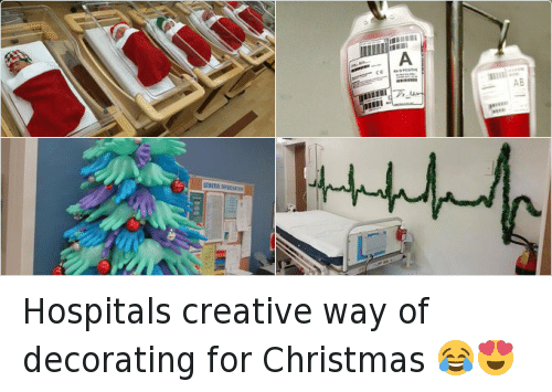 Hospitals Creative Way Of Decorating For Christmas