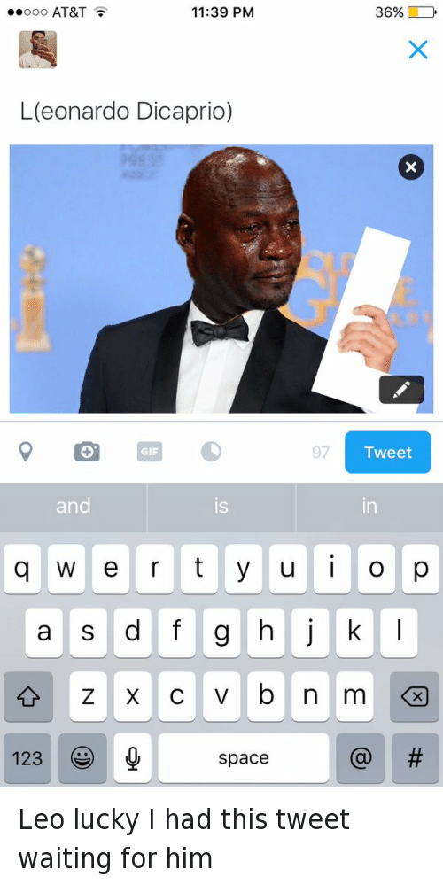 Academy Awards, Michael Jordan Crying, and Oscars: L(eonardo Dicaprio) Leo lucky I had this tweet waiting for him