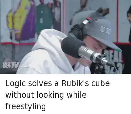 Freestyling, Funny, and Logic: BOY Logic solves a Rubik's cube without looking while freestyling