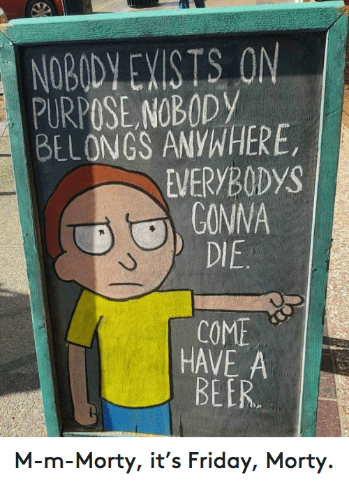 come have a beer