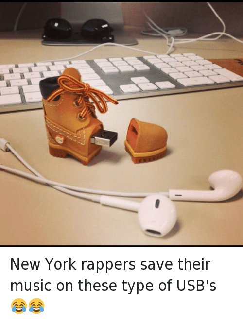 Computers, Music, and New York: New York rappers save their music on these type of USB's 😂😂