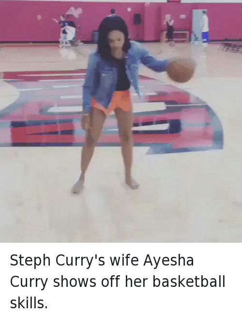 Ayesha Curry, Basketball, and Funny: Steph Curry's wife Ayesha Curry shows off her basketball skills.