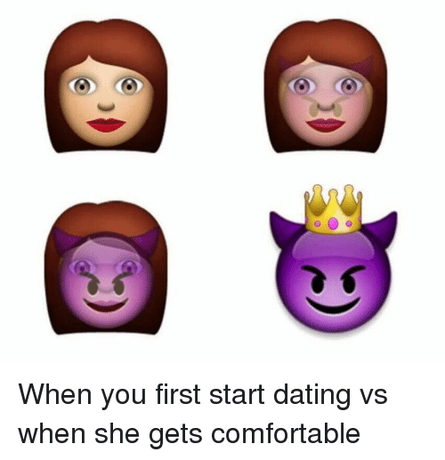 when you first start dating a man