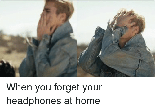 Home: VeVO   Vevo When you forget your headphones at home