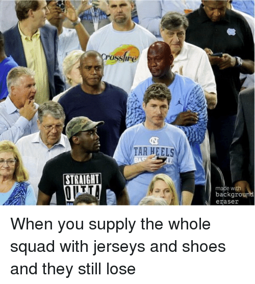 Basketball, Mfw, and Michael Jordan: When you supply the whole squad with jerseys and shoes and they still lose