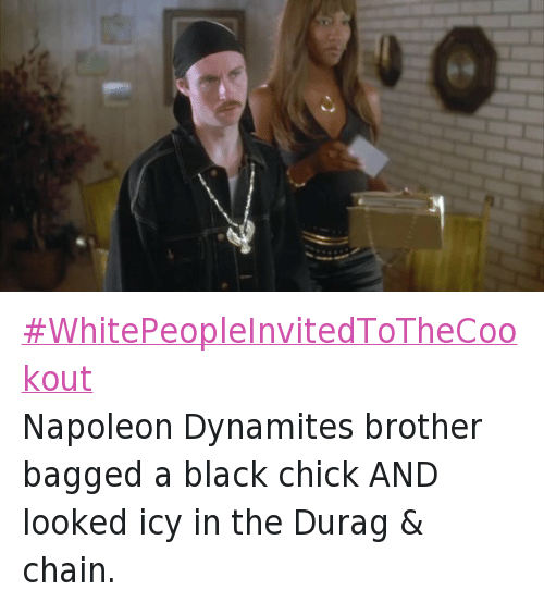 Aaron Ruell, Durag, and Fresh: WhitePeopleInvitedToTheCookout-Napoleon Dynamites brother bagged a black chick AND looked icy in the Durag & chain.