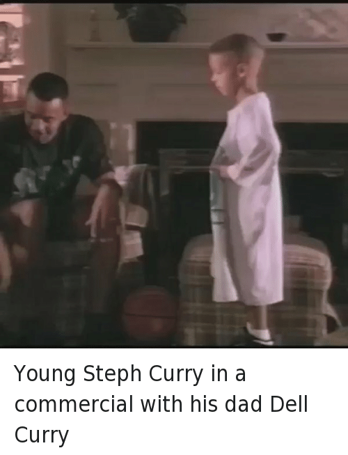 Dad, Dell, and Funny: Young Steph Curry in a commercial with his dad Dell Curry