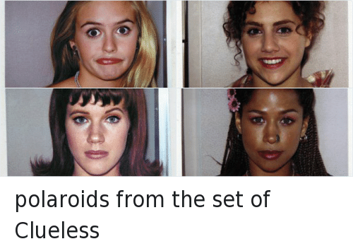 Clueless: polaroids from the set of Clueless
